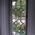 56b Casement window with security bars are easily screened